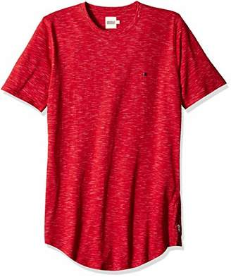 Something for Everyone Men's Crew Neck Slub Long Cut Slim Fit T-Shirt