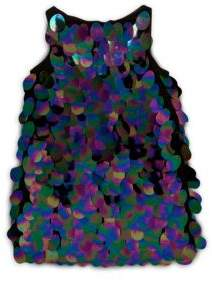 Milly Girl's Paillette Sequin Angular Shift Dress
