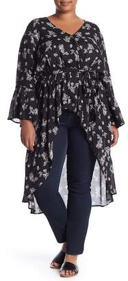 Melrose and Market Wrap Front Top (Plus Size)
