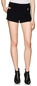 Marcelo Burlon County of Milan Women's Logo Cotton French Terry Shorts - Black
