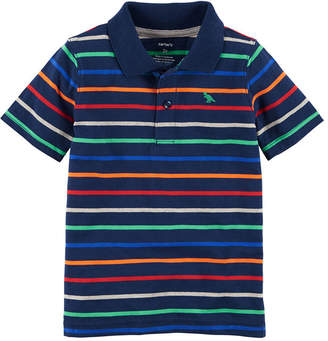Carter's Boys Spread Collar Short Sleeve Polo Shirt - Toddler