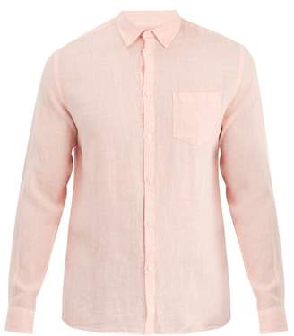 Solid & Striped Classic Button Down Linen Shirt - Mens - Pink
