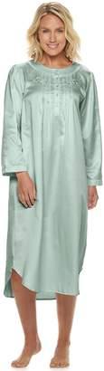Miss Elaine Petite Essentials Satin Nightgown