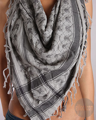 Monarchy Collection Shemagh Scarf in Grey