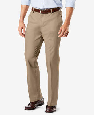 Dockers New Signature Lux Cotton Straight Fit Creased Stretch Khaki Pants