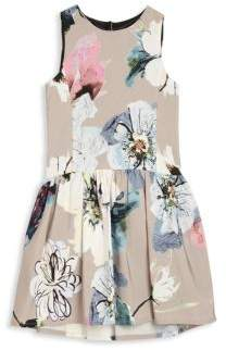 Milly Minis Girl's Floral-Print Drop-Waist Dress