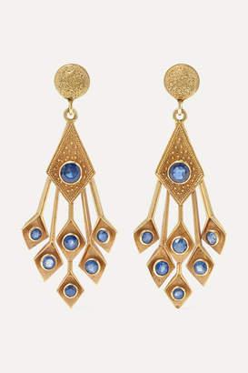 Fred Leighton 1960s 18-karat Gold Sapphire Earrings
