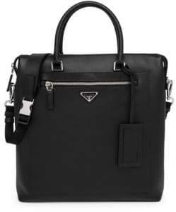 Prada Saffiano Leather Travel Briefcase