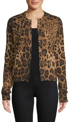 Dolce & Gabbana Women's Leopard Cashmere Cardigan