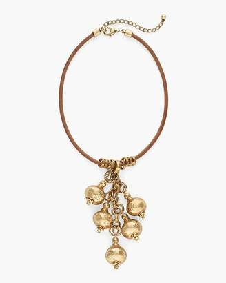 Gold-Tone Ball Bib Necklace