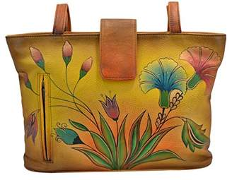 Anuschka Anna by Genuine Leather Tote Bag | Hand-Painted Original Artwork |