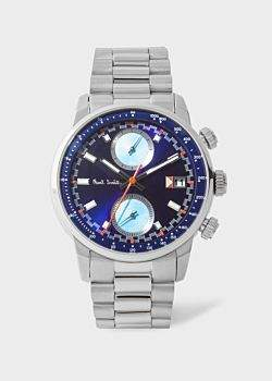 Paul Smith Men's Indigo And Stainless Steel 'Block' Chronograph Watch