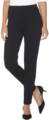 Susan Graver Ponte Knit Pull-On Leggings with Seam Detail