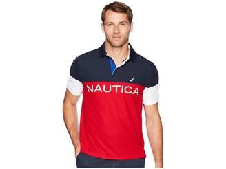 Nautica Navtech Short Sleeve Color Blocked Performance Polo
