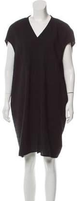 Rick Owens V-Neck Textured Dress