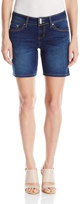 7 For All Mankind Seven7 Women's Bermuda 7 Inch Short with Double Button Waist and S Pockets