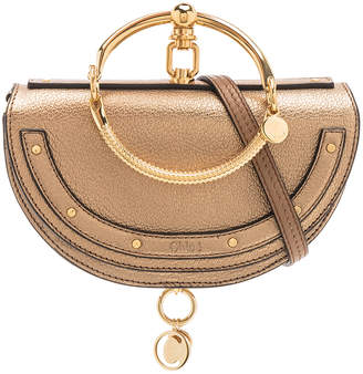 Chloé Small Nile Leather Metallic Minaudiere in Gold | FWRD