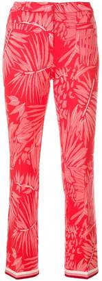 Cambio palm print trousers