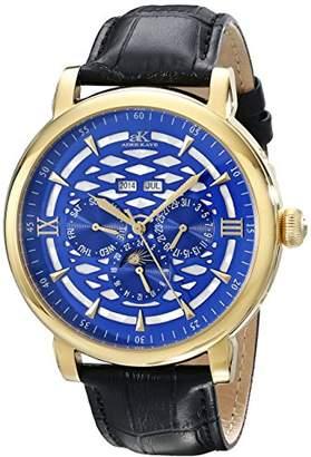 Adee Kaye Men's AK2242-MG/BU Successo Analog Display Automatic Self Wind Black Watch