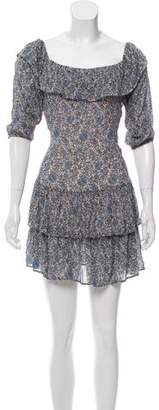 Rebecca Minkoff Floral Print Ruffled Dress