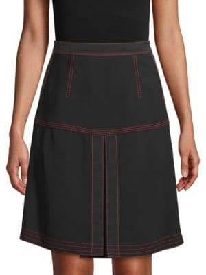 Burberry Knee-Length Slit Skirt
