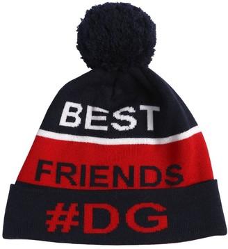 Dolce & Gabbana Wool Knit Beanie Hat W/ Pompom