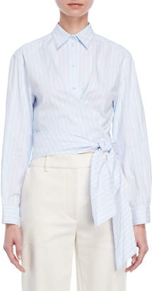 Cédric Charlier Striped Tie-Front Shirt