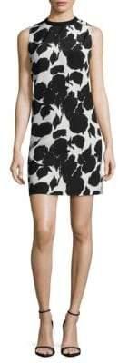 Derek Lam Printed Sleeveless Silk Shift Dress