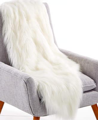 "Lacourte Flokati 50"" x 60"" Faux-Fur Throw, Created for Macy's"