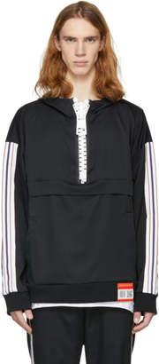 Miharayasuhiro Black Enlarged Zip Hoodie
