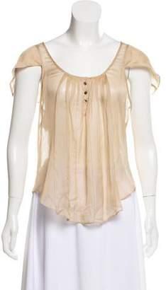Brian Reyes Silk Cap Sleeve Top