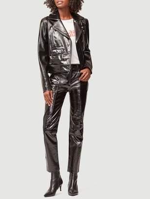 Frame Slick Leather Moto Jacket