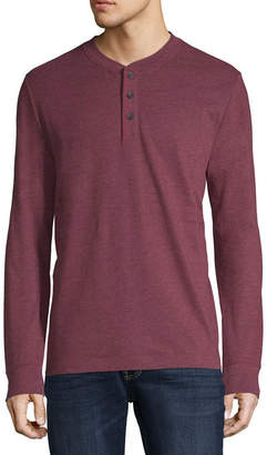 ST. JOHN'S BAY Long Sleeve Henley Shirt