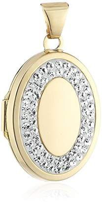 Crystelle Locket - 29 MM with White Swarovski Crystals Oval 340340174