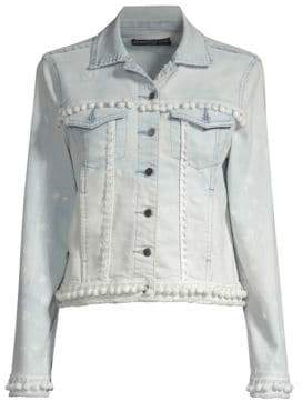 Generation Love Casey Pom Pom Cropped Denim Jacket