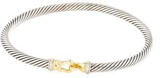 David Yurman Diamond Cable Buckle Bracelet