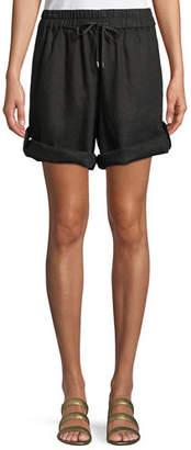 Eileen Fisher Linen Roll-Tab Shorts
