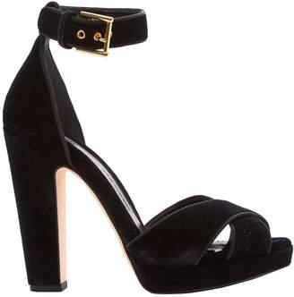 Alexander McQueen Velvet sandals