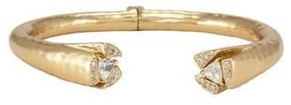 Melinda Maria Double Tatum White CZ Cuff Bracelet