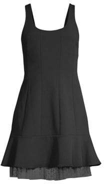 BCBGMAXAZRIA Scoopneck Fit-&-Flare Mini Dress
