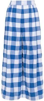 Mara Hoffman Angie high waist check organic cotton trousers