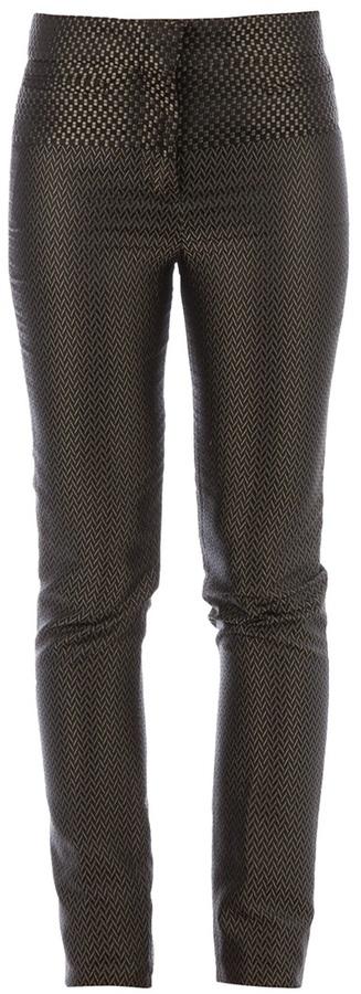 Haider Ackermann skinny chevron patterned trouser
