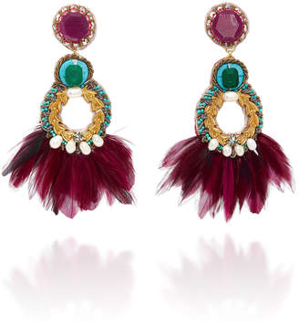 Ranjana Khan Paquetá Feather Embellished Earrings