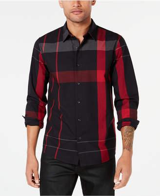 GUESS Men Long-Sleeve Canyon Plaid Shirt