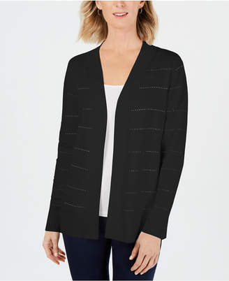 Karen Scott Pointelle-Knit Ottoman Cardigan, Created for Macy's