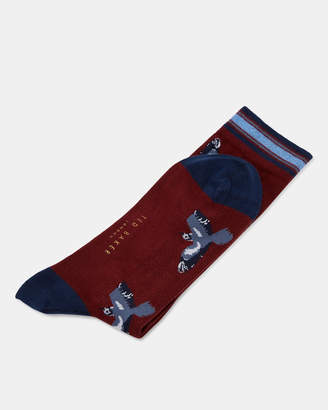 Ted Baker KAAMI Bird print cotton socks