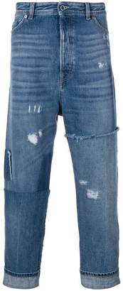 Diesel Black Gold cropped dropped crotch jeans