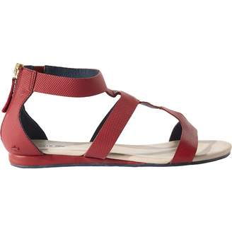 Lacoste Red Leather Sandals