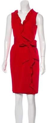 Diane von Furstenberg Andra Sleeveless Ruffled Mini Dress