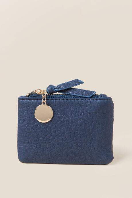 Francesca's Anya Coin Pouch in Navy - Navy
